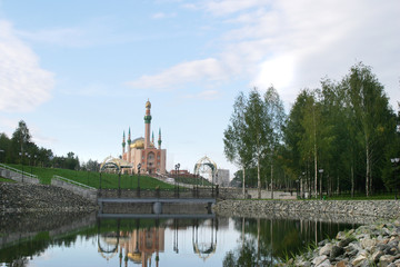 Landscaped area near a mosque Almetyevsk
