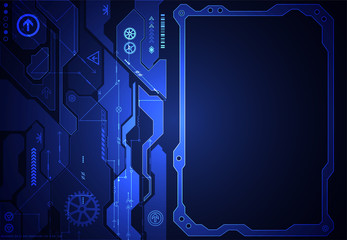 Hi-tech digital technology and engineering background. Vector