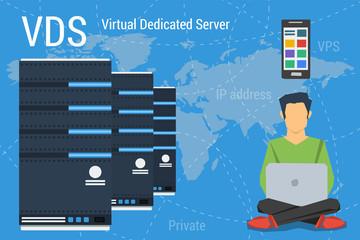 Virtual Dedicated Server on blue