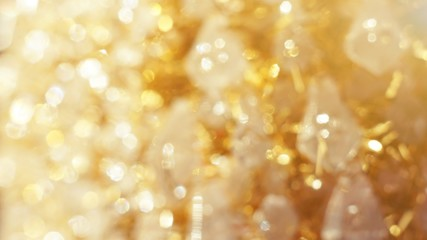 white golden crystal abstract shiny bokeh background