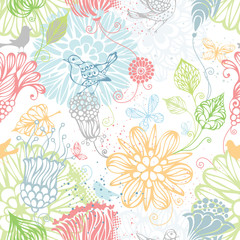 Seamless nature pattern.