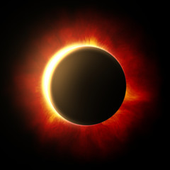 Eclipse of the sun with corona
