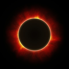 Total eclipse of the sun with corona