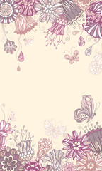 Floral violet background.