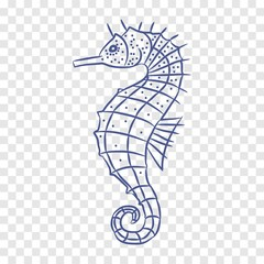 seahorse icon. vector illustration