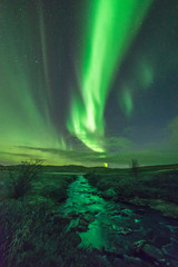 Northernlights above a river