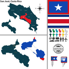 Map of San Jose, Costa Rica