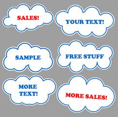 Message cloud bubbles