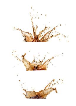 coffee or cola  splash set  isolated