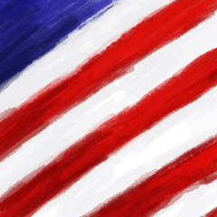 American Flag colors painting background