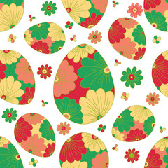 Colorful seamless pattern with easter egg.