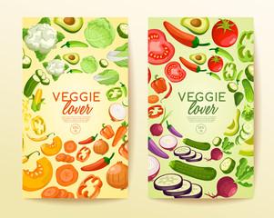 Vegetable Elements : Veggie Lover : Vector Illustration