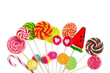 Fototapete - Different colorful lollipops