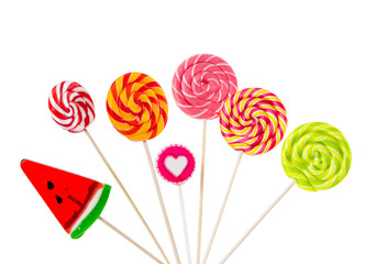 Wall Mural - Different colorful lollipops