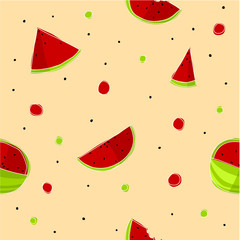 Watermelons pattern - vector