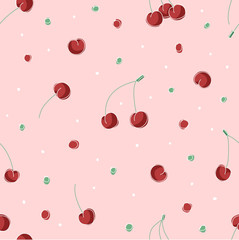 Cherries pattern - vector