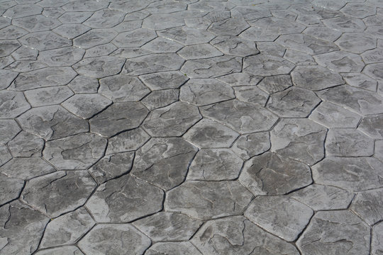 Stamp Concrete floor  texture pattern and background.