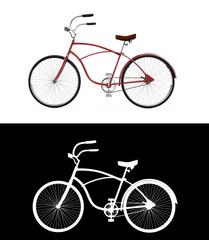 Red bicycle, Bike theme elements, Street speed sport bicycle, Bi