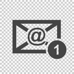 Email envelope message. Vector illustration in flat style on isolated background.