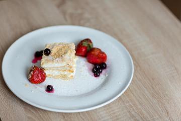 cake ice-cream with berries