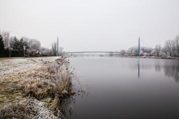 Frozen Nature By River Elbe-Celakovice, Czech Rep.