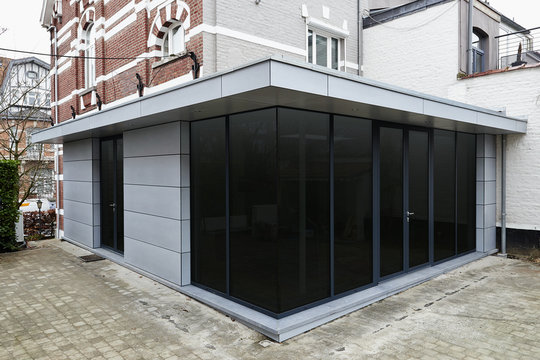 New modern extension of a house