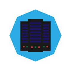 Big data flat icon
