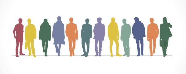 Silhouettes hommes-couleurs