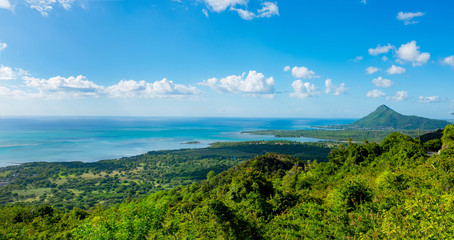 Jungle paradise on Mauritius panoramic