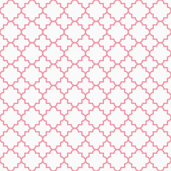 Traditional quatrefoil lattice pattern outline