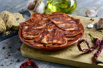 spanish chorizo, cured pork sausage