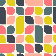 Abstrait géométrique rétro. Modèle sans couture lumineux. Illustration vectorielle.