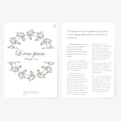 template for folder, business card and invitation