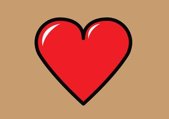 cartoon heart shape vector
