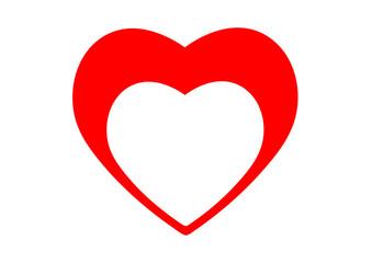 heart icon frame vector