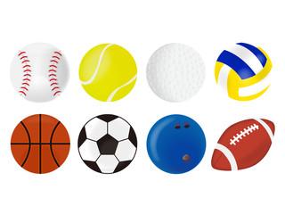 スポーツのボールイラストセット