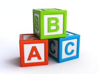 abc alphabet cubes