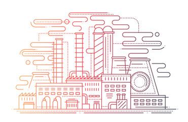 Factory - line design composition