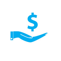 save money icon on white background. save money sign.