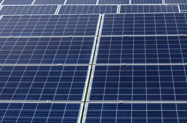 solar cells in power station energy from the sun