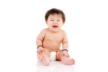Lovely asian baby