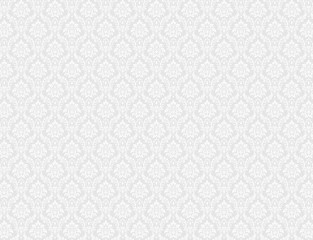 White damask pattern background