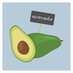 Vector Vegetable - Avocado
