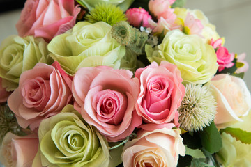 Panicle of roses for decorate.