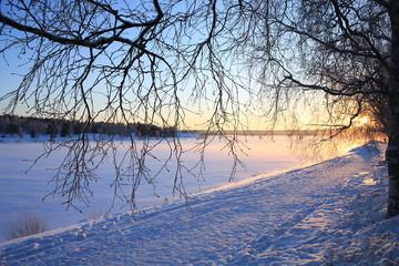 Sunset in Lapland, Finland