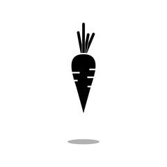Carrot icon vector