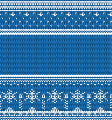 Knitted winter seamless linear ornaments