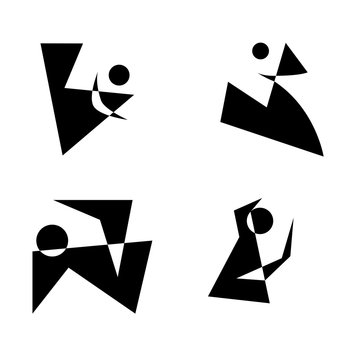 Абстрактные иконки ч/б