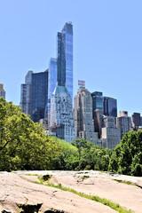 vue de New-york depuis Central park