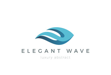 Wave Logo design vector. Abstract Logotype Fashion Cosmetics